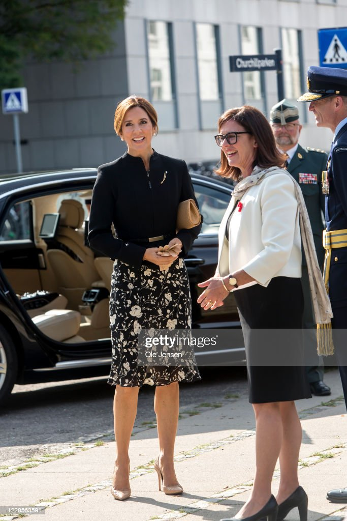 Crown Princess Mary Participates In Inauguration Of Australian War Monument In Copenhagen : News Photo