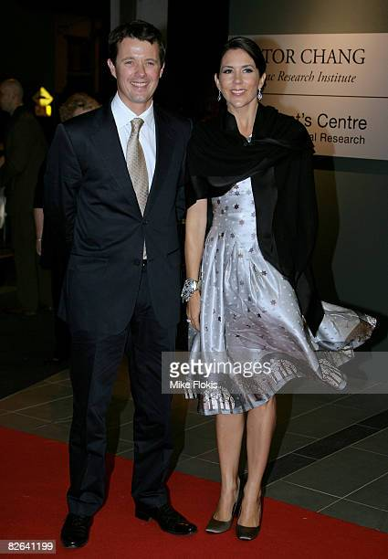 Crown Princess Mary of Denmark and Prince Frederick of Denmark attend the official opening dinner for the Lowy Packer Building at the Victor Chang...