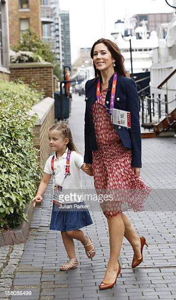 Crown Princess Mary Of Denmark And Princess Isabella Leave The Royal Yacht Dannebrog The Morning In Their Way To Watch The Olympics
