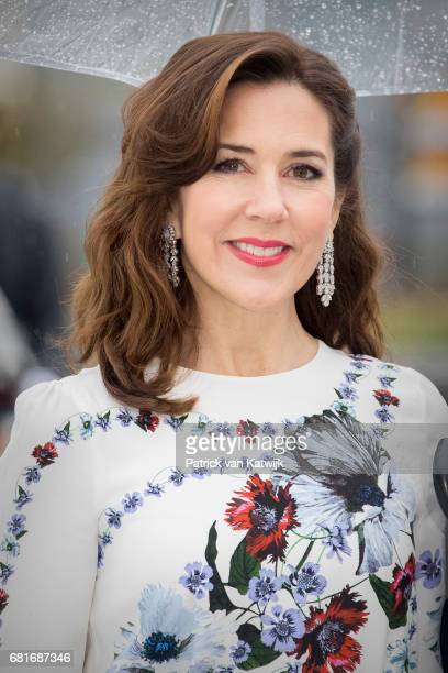 Crown Princess Mary of Denmark arrives at the Opera House on the ocassion of the celebration of King Harald and Queen Sonja of Norway 80th birthdays...