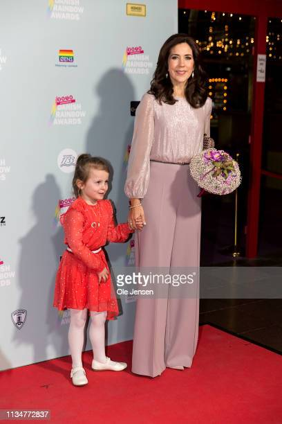 Crown Princess Mary of Denmark arrives for the annual Danish Rainbow Award show at The Circus Building on April 3, 2019 in Copenhagen, Denmark....