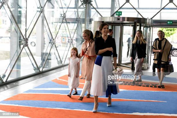 Crown Princess Mary of Denmark arrives to the 'Copenhagen Fashion Summit 2018' conference on May 15 in Copenhagen Denmark The Global Fashion Agenda...