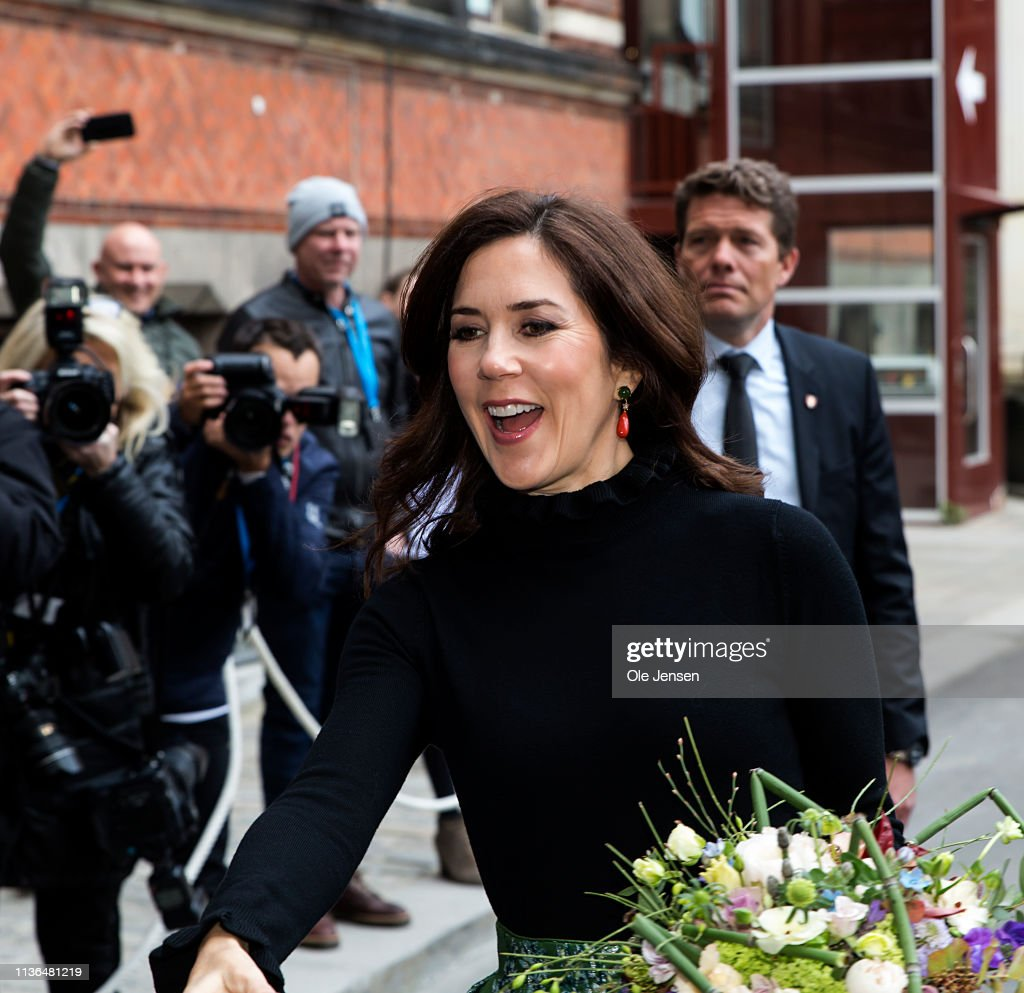 "DNK: Crown Princess Mary Of Denmark Opens The Exhibition ""Fashioned From Nature"" At The Natural History Museum Copenhagen"