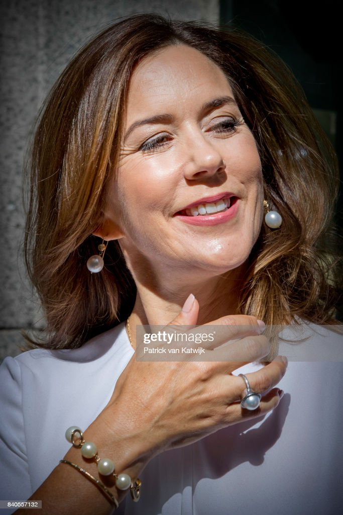 Crown Princess Mary of Denmark Attends The Opening Of The National Care Center In Copenhagen : News Photo