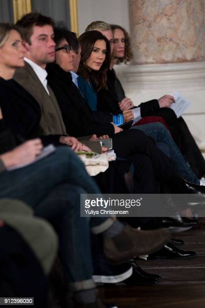 Crown Princess Mary of Denmark attending Designer's nest show during the Copenhagen Fashion Week Autumn/Winter 18 on January 30 2018 in Copenhagen...