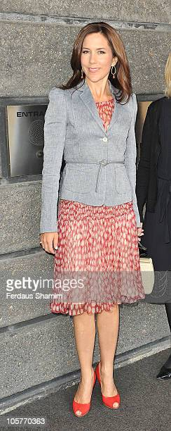 Crown Princess Mary of Denmark attends a luncheon to celebrate a seminar on 'Building Schools for Future Learning' from Denmark's Crown at Danish...