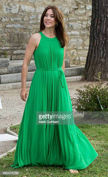 Crown Princess Mary of Denmark attends a Photocall at Chateau de Cayx on June 11 2014 in Luzech France