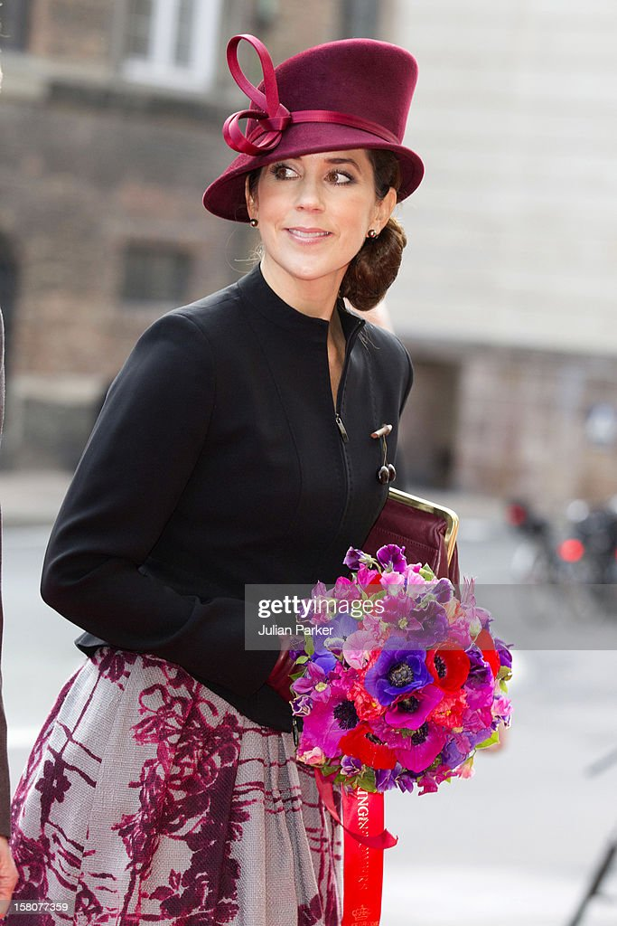 Crown Princess Mary Of Denmark Attend'S A Reception At The Danish Parliament Copenhagen For The 40Th Jubilee Of The Queen'S Reign.