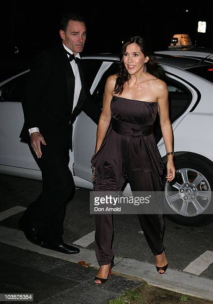 Crown Princess Mary of Denmark attends her friend and bridesmaid Amber Petty's 40th birthday celebration at The Promethean on August 21 2010 in...