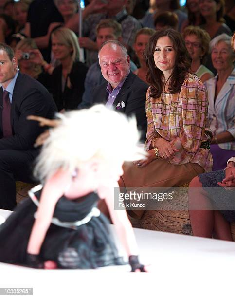 Crown Princess Mary of Denmark attends the CIFF Kids Fashion Show at Bella Center as part of Copenhagen Fashion Week S/S 2011 on August 12 2010 in...