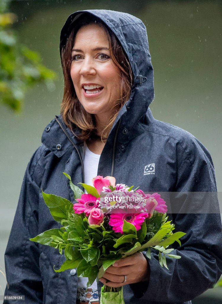 Crown Princess Mary of Denmark attends the Ringsted horse ceremony at Grasten Slot during their summer vacation on July 16, 2017 in Grasten, Denmark.