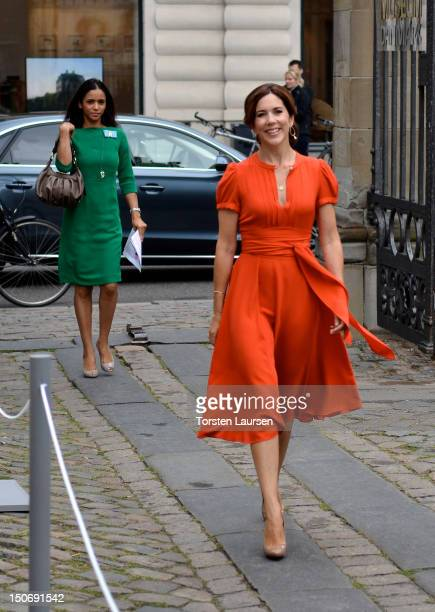 Crown Princess Mary of Denmark attends the St. Petersburg Loye Prize ceremony at the Danish Museum of Art & Design on August 24, 2012 in Copenhagen,...