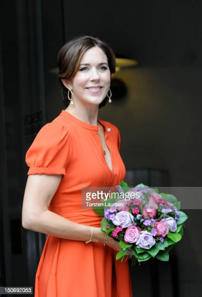 Crown Princess Mary of Denmark attends the St. Petersburg Loye Prize and Medals ceremony at the Danish Museum of Art & Design on August 24, 2012 in...