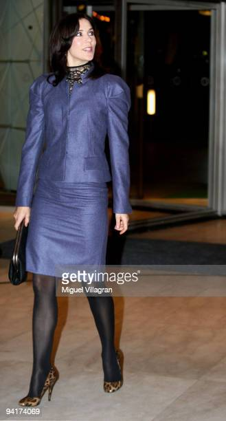 Crown Princess Mary Of Denmark attends the sustainable runway show organized by the Danish fashion Institute promoting responsible and ethical...