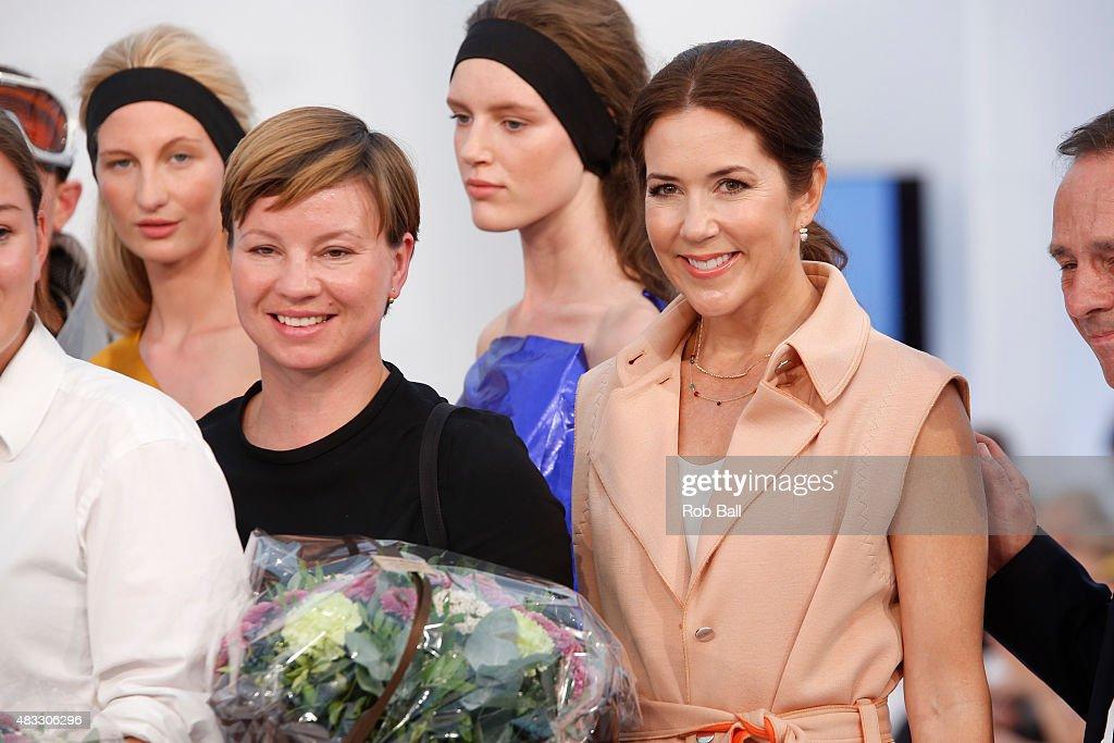 Crown Princess Mary of Denmark attends the third day of Copenhagen Fashion Week Spring/Summer 2016 on August 7, 2015 in Copenhagen, Denmark.