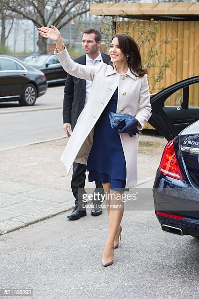 Crown Princess Mary of Denmark attends visit to Tjornegaard School during the State visit of the President of The United Mexican States President...