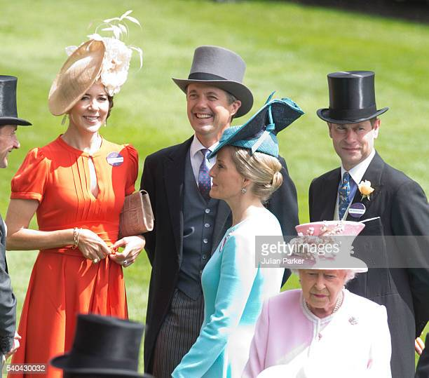 Crown Princess Mary of Denmark Crown Prince Frederik of Denmark and Sophie Countess of Wessex Prince Edward Earl of Wessex and Queen Elizabeth II...