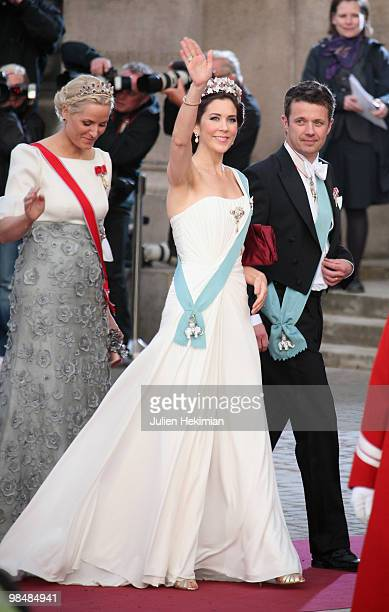 Crown Princess Mary of Denmark , Crown Prince Frederik of Denmark and Crown Princess Mette-Marit of Norway attend the Gala Performance in celebration...