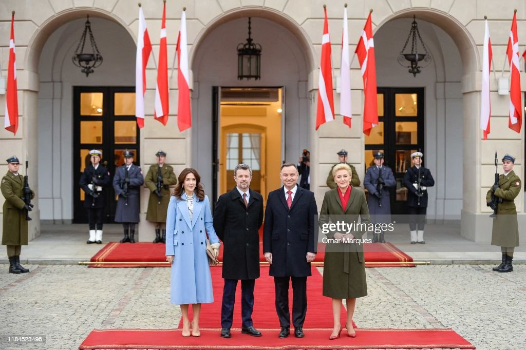 Danish Crown Prince Couple Visit Poland : News Photo