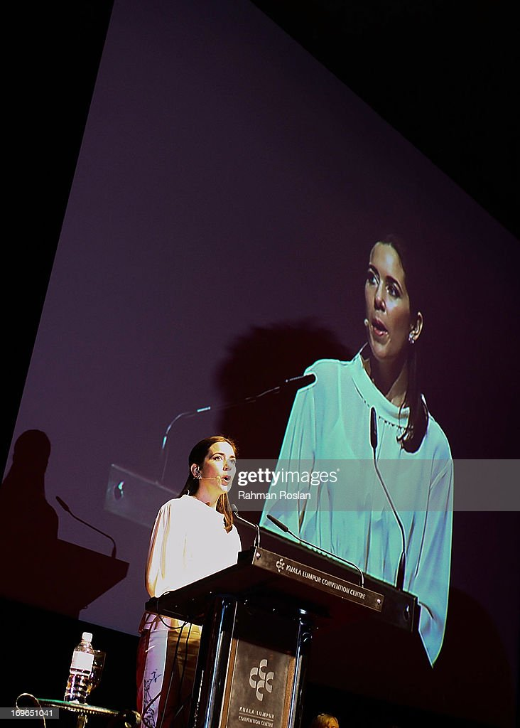 Crown Princess Mary of Denmark delivers her speech during the third day of The Women Deliver Conference on May 30, 2013 in Kuala Lumpur, Malaysia. The WD conference brings together voices from around the world to call for action to improve the health and well-being of girls and women. The WD Conference builds on commitments, partnerships, and networks mobilized at the groundbreaking Women Deliver conferences in 2007 and 2010, fighting to end the deluge of preventable deaths that kill approximately 287,000 girls and women from pregnancy-related causes every year.