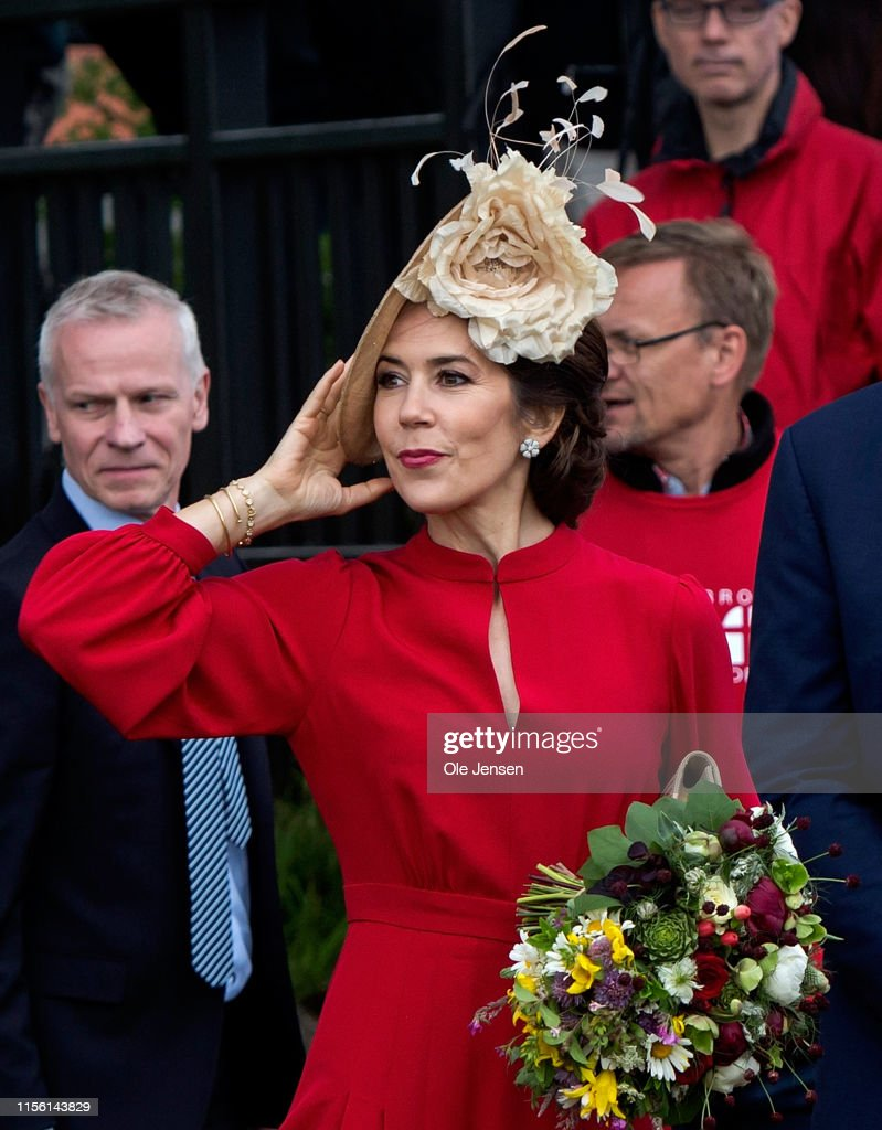 Danish Crown Prince And Princess Participate In The 800 Year Anniversary Of The Danish Flag : News Photo