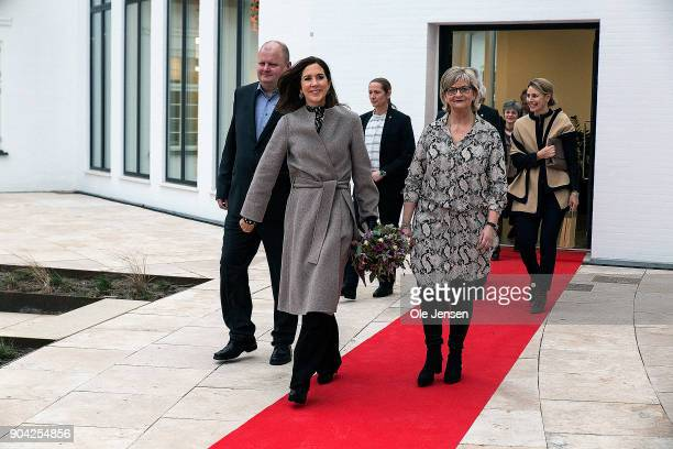 Crown Princess Mary of Denmark during her visit to at The Christmas Seal Foundation's home opening on January 12 2018 in Roskilde Denmark The Crown...