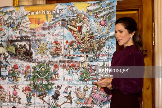 Crown Princess Mary of Denmark during the presentation of the Christmas Seal 2017 at the City Hall on November 3 2017 in Copenhagen Denmark The Crown...