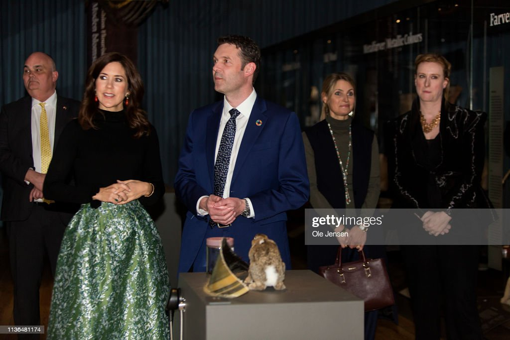 Crown Princess Mary Of Denmark Opens The Exhibition 'Fashioned From Nature' At The Natural History Museum Copenhagen : News Photo