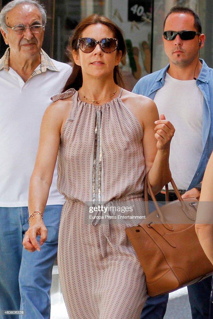 Mary Of Denmark Sighting in Palma de Mallorca - August 1, 2015 : News Photo