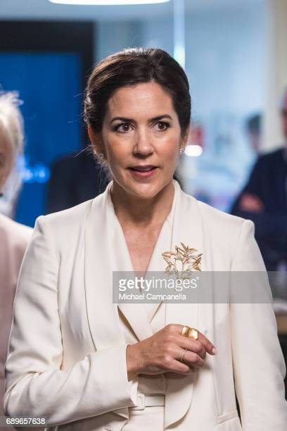 Crown Princess Mary Of Denmark is seen visiting the Designlounge on May 29 2017 in Stockholm Sweden