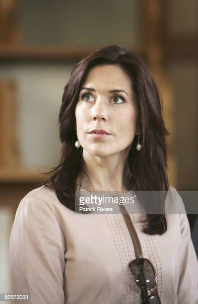 Crown Princess Mary of Denmark looks around the chapel of Port Arthur on March 11 2005 in Hobart Australia The Port Arthur Prison Colony site gained...