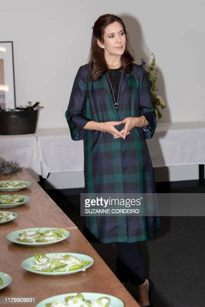 Crown Princess Mary of Denmark looks on during her visit to the SXSW House of Scandanavia on March 11 2019 in Austin Texas