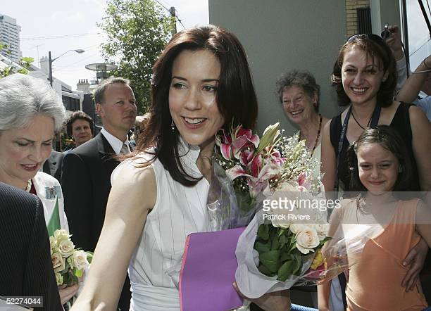 Crown Princess Mary of Denmark, Mary Donaldson, arrives at the Victor Chang Cardiac Research Institute in Darlinghurst March 4, 2005 in Sydney,...