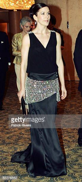Crown Princess Mary of Denmark, Mary Donaldson arrives at the Victor Chang Cardiac Institute Ball with former New South Wales Premier Mr Neville Wran...