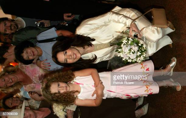 Crown Princess Mary of Denmark, Mary Donaldson receives flowers from Alexandra Seville at the luncheon hosted by Mental Health Foundation Australia...