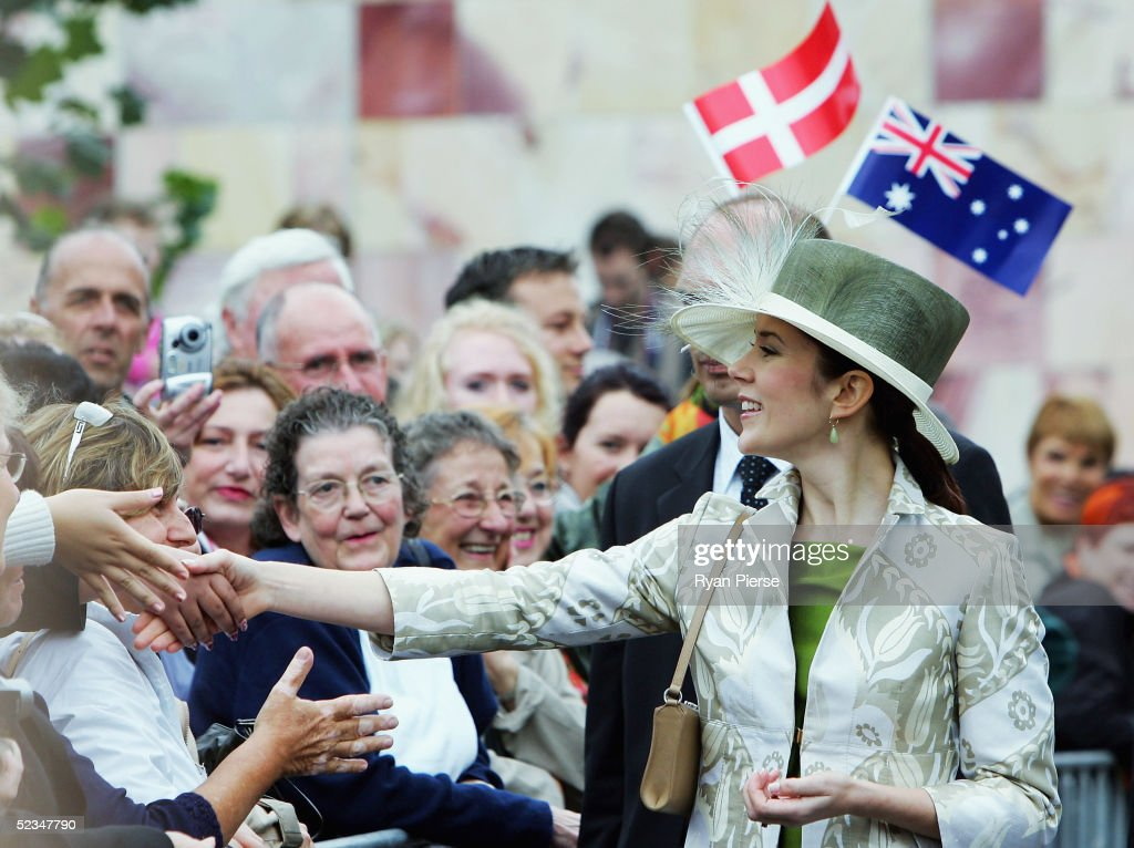 Danish Royals In Federation Square : News Photo