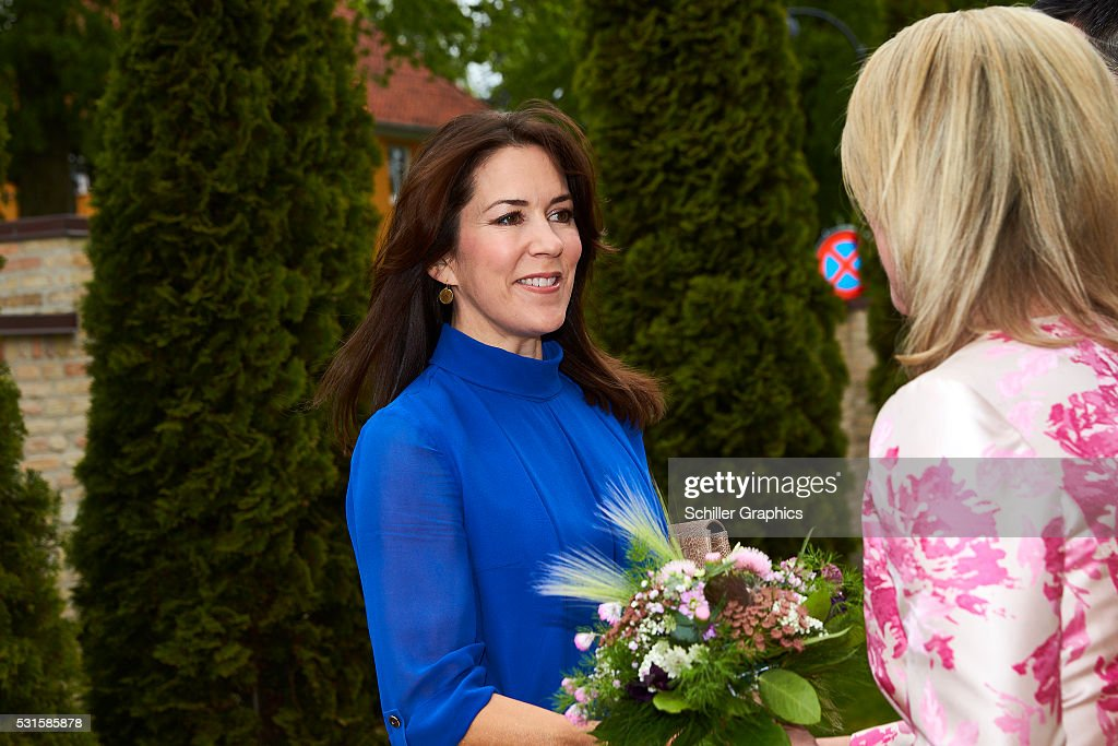 Crown Princess Mary of Denmark, Natasha Stott Despoja arrives at a reception for Australian delegates attending the Women Deliver Conference at the Australian Ambassador's Residence on May 15, 2016 in Copenhagen, Denmark.