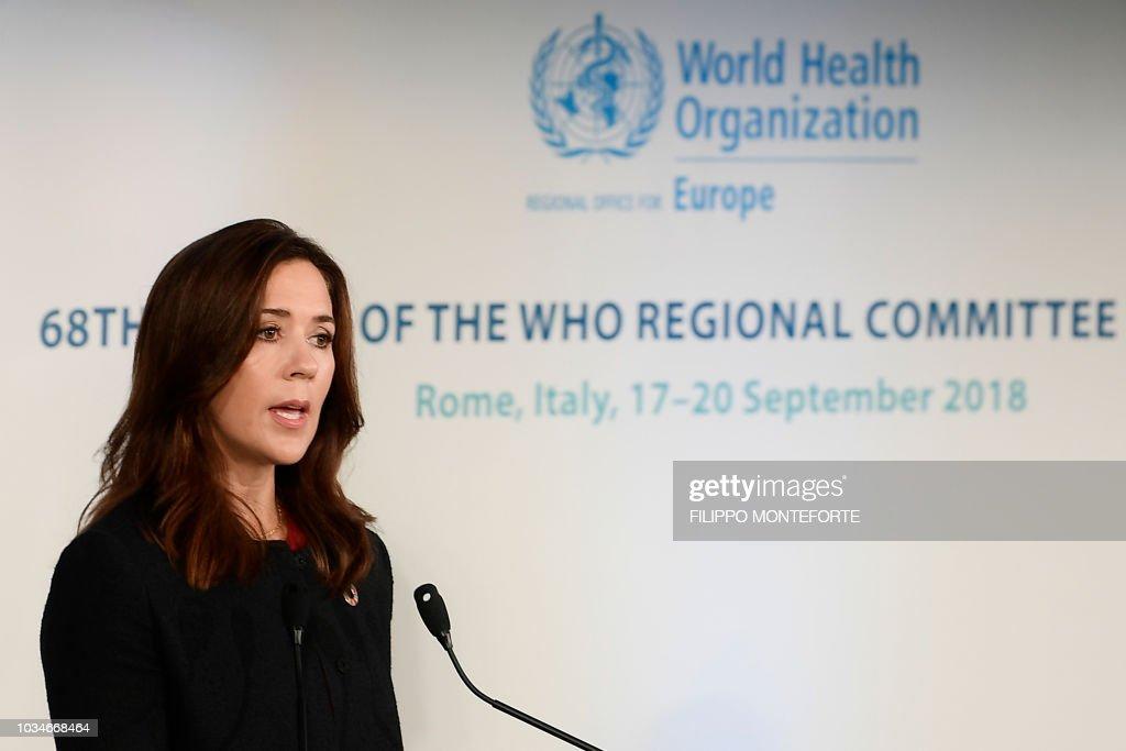 ITALY-DENMARK-WHO : News Photo