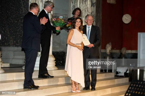 Crown Princess Mary of Denmark presents the Carlsberg Foundation research prize to Professor Karl Anker Joergensen research in homogeneous catalysis...