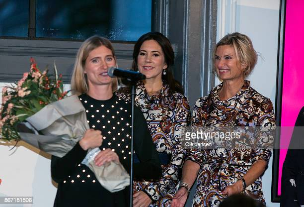 Crown Princess Mary of Denmark presents the Magasin du Nord Fashion Prize 2017 award which goes to designer Laerke Andersen at Charlottenburg on...
