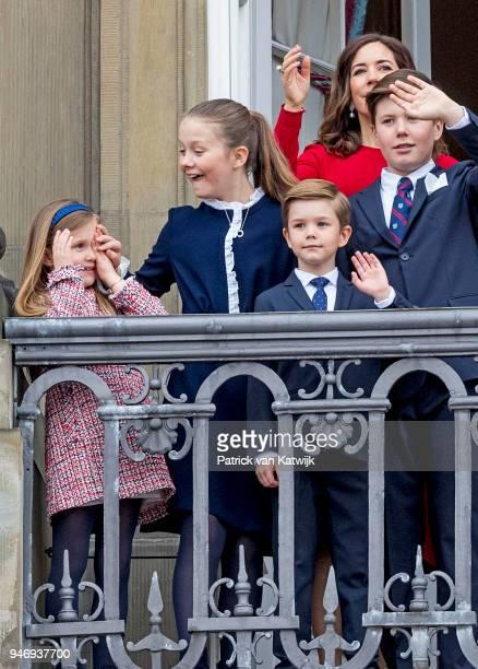 Crown Princess Mary of Denmark Prince Christian of Denmark Princess Isabella of Denmark Prince Vincent of Denmark and Princess Josephine of Denmark...