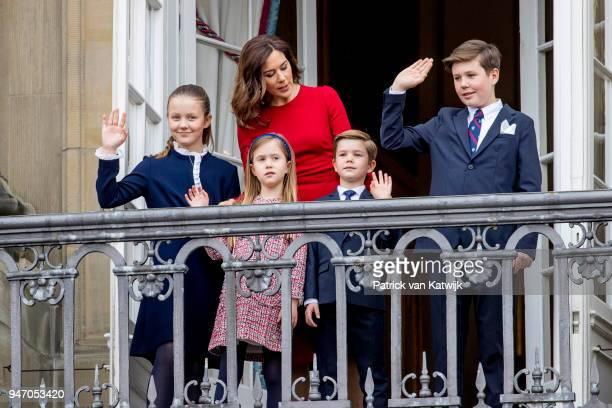 Crown Princess Mary of Denmark, Prince Christian of Denmark, Princess Isabella of Denmark, Prince Vincent of Denmark and Princess Josephine of...