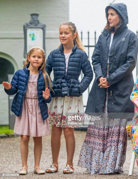 Crown Princess Mary of Denmark Princess Isabella of Denmark and Princess Josephine of Denmark attend the Ringsted horse ceremony at Grasten Slot...