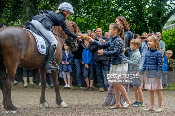 Crown Princess Mary of Denmark Princess Isabella of Denmark Prince Vincent of Denmark and Princess Josephine of Denmark attend the Ringsted horse...