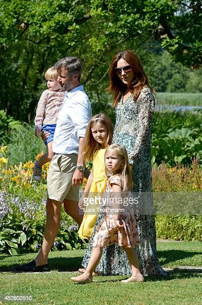 Crown Princess Mary of Denmark, Princess Josephine of Denmark, Princess Isabella of Denmark, Prince Vincent of Denmark and Crown Prince Frederik of...