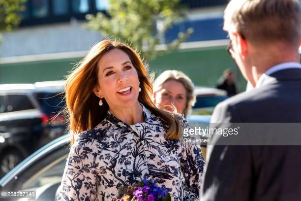 Crown Princess Mary of Denmark seen at arrival to her participation in her capacity as President for the Danish World Wildlife Foundation during the...