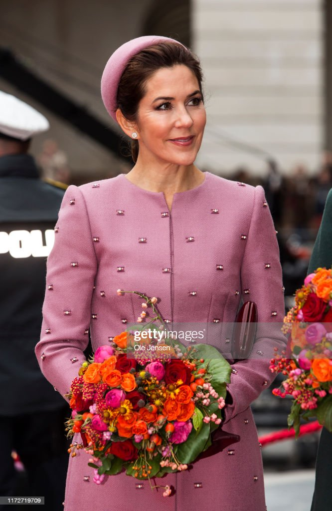 Queen Margrethe And The Danish Royal Family Attend Opening Of The Parliament : News Photo