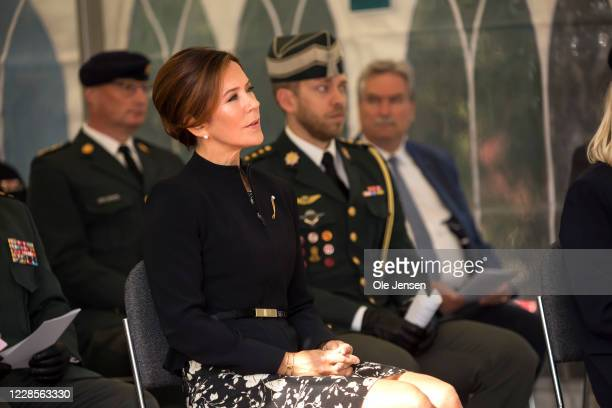 Crown Princess Mary of Denmark seen at the official inauguration of the Australian War Monument at the Churchill Memorial Park on September 17 2020...
