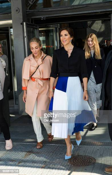 Crown Princess Mary of Denmark together with Eva Kruse CEO and President for the 'Global Fashion Agenda' attend the 'Copenhagen Fashion Summit 2018'...
