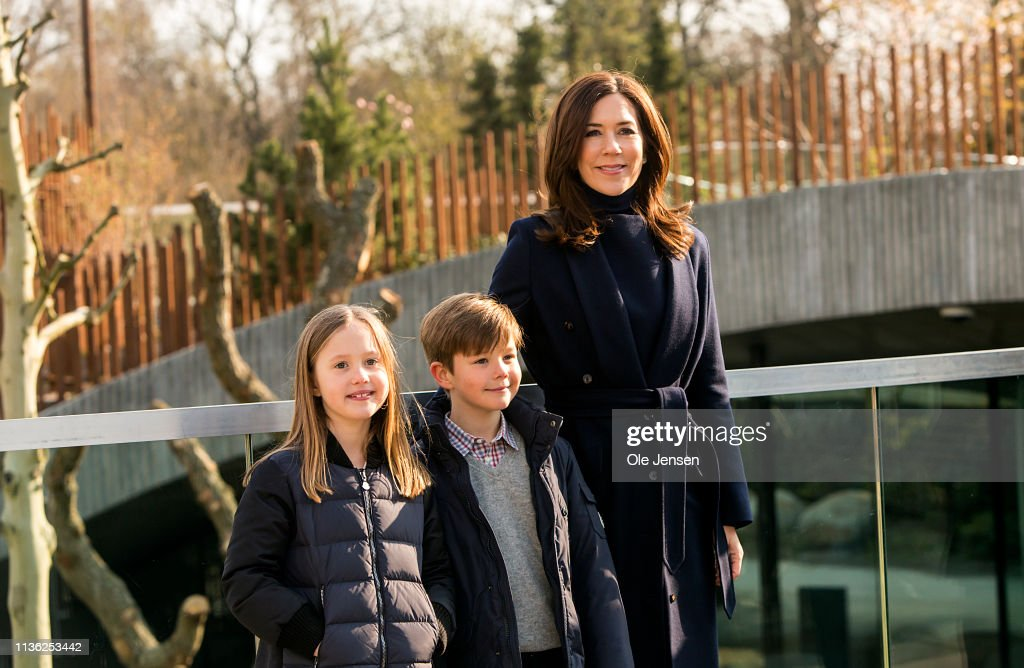 DNK: Crown Princess Mary Of Denmark Visits Copenhagen Zoo Opening